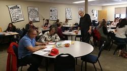 MIddle School Math Teachers receive GAISE Training at the ESC