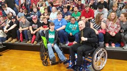 Wheelchair Body Builder Nick Scott Speaks to Sophomore students at Rio Grande University