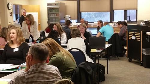 Gallia-Vinton ESC member Robin Phillips discusses Math Training with teachers