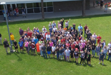 Drone View of Students Attending ESC Summer Camps