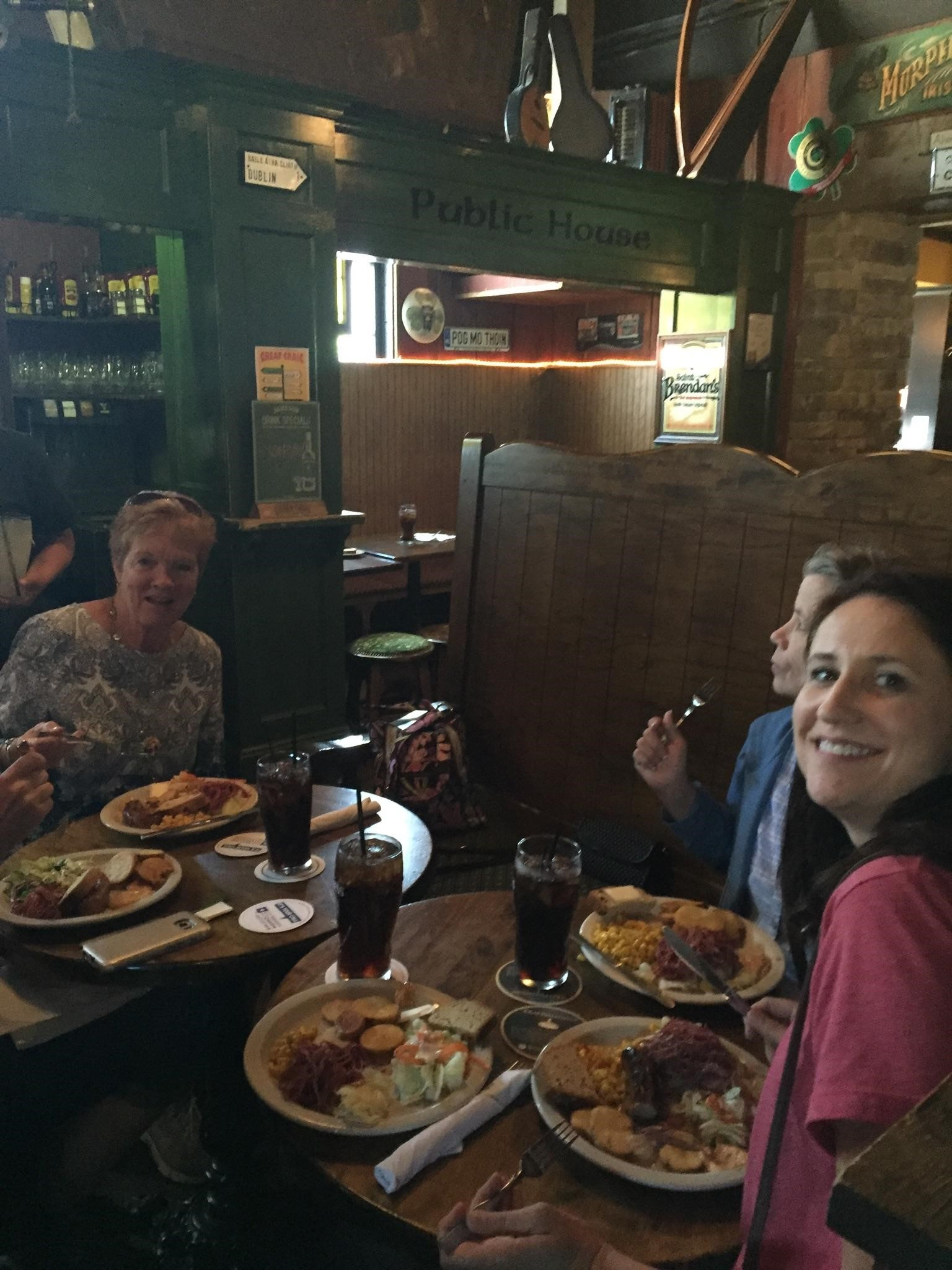 Lunch in Nine Irish Brother's in West Lafayette, Indiana