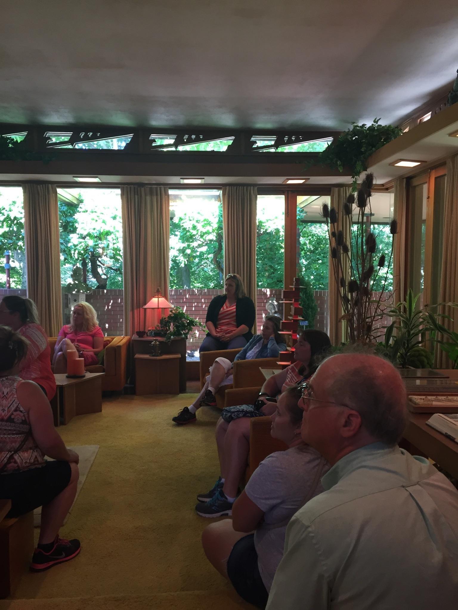 Visiting Samara House designed by Frank Lloyd Wright