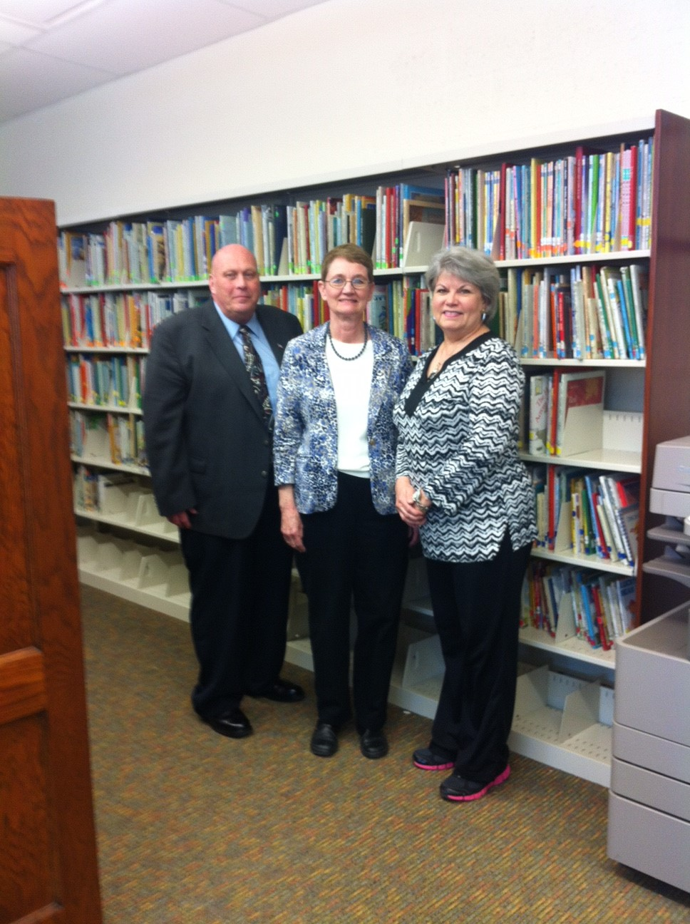 Mr. David Moore, Mrs. Deanna Tribe and Mrs. Nell Saunders